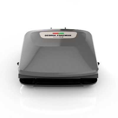 George Foreman Rapid Series 4-Serving Indoor Grill and Panini Press - Silver
