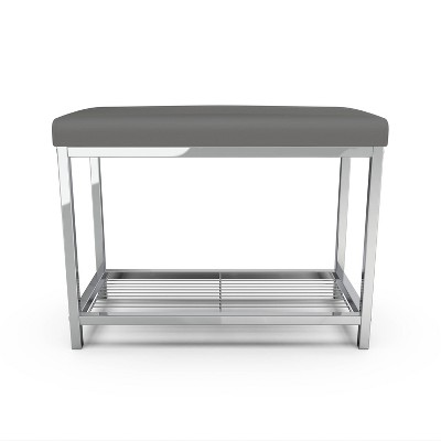 Moderna Extra Wide Vanity Seat Gray - Better Living Products