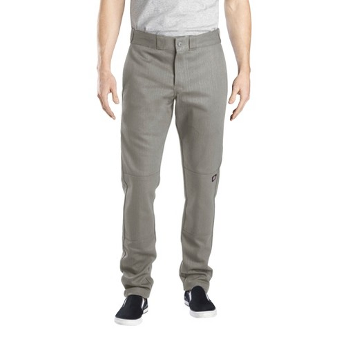 Dickies® Men's Skinny Straight Fit Flex Twill Double Knee Pants- Silver Gray 32x34 - image 1 of 4