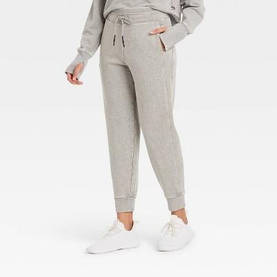 Women's Mid-Rise French Terry Acid Wash Jogger Pants - JoyLab™