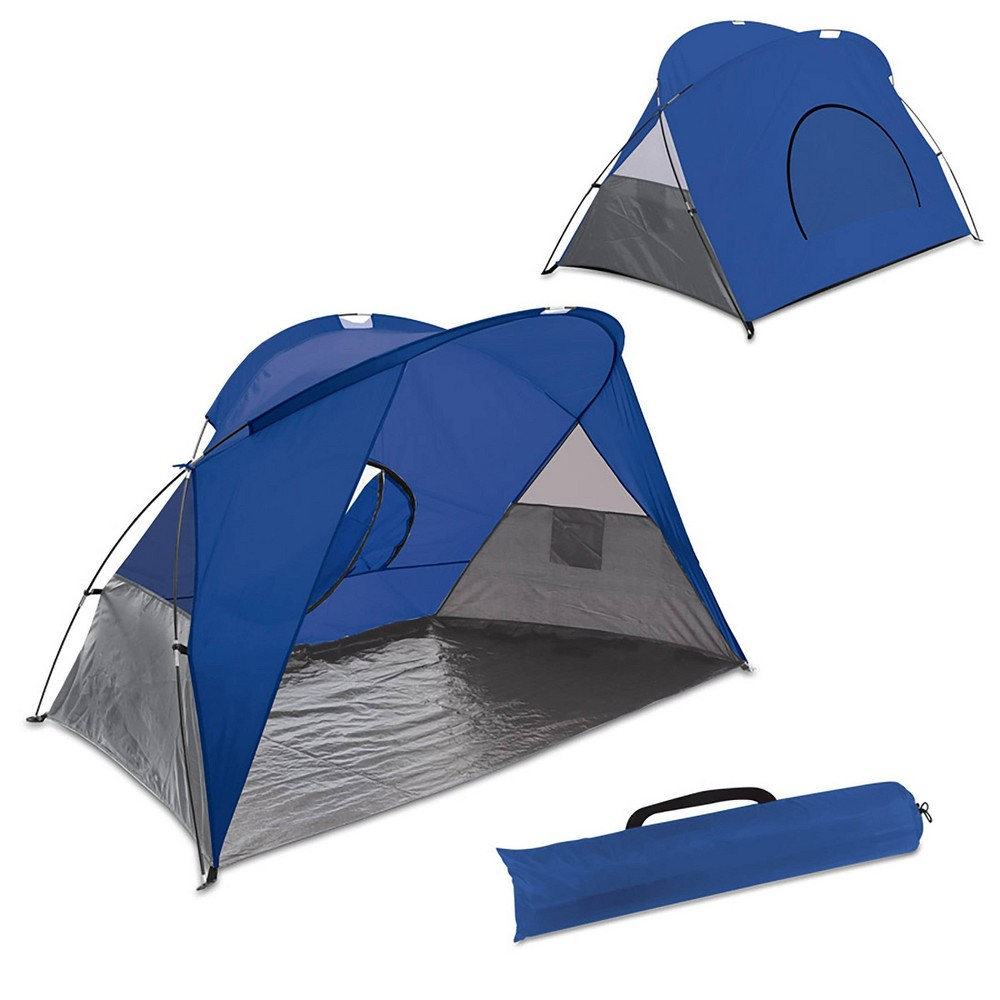Image of Picnic Time Cove Sun Shelter - Blue