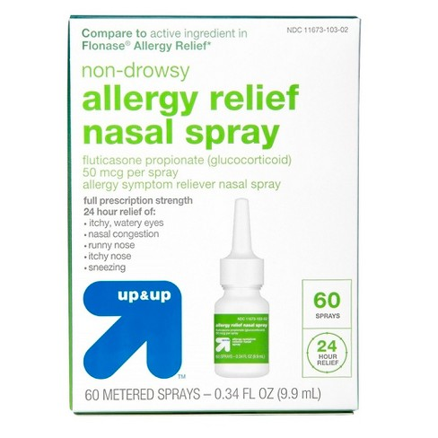 Fluticasone Propionate (Glucocorticoid) Allergy Relief Nasal Spray - Up&Up™ (Compare to active ingredient in Flonase Allergy Relief) - image 1 of 3
