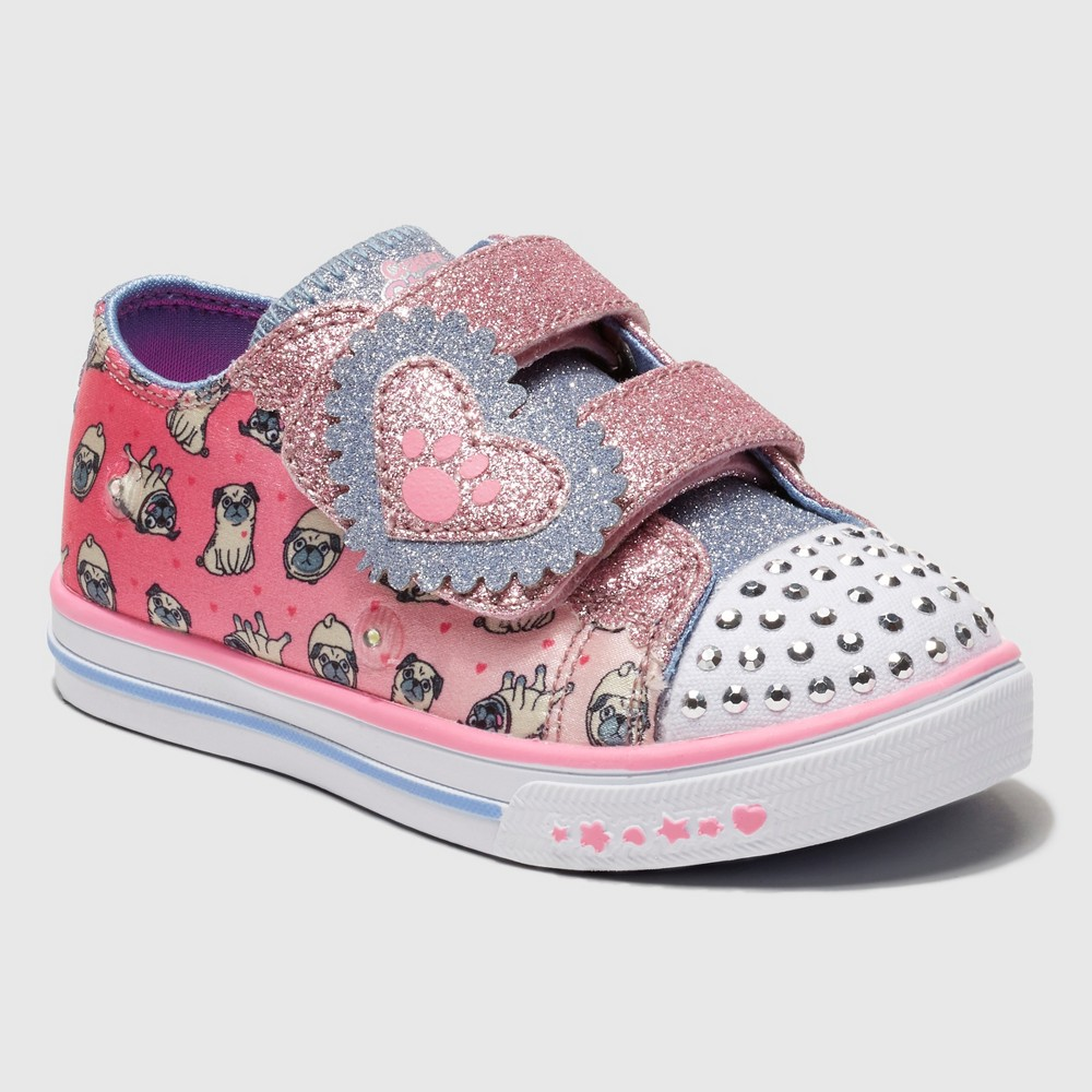 Toddler Girls' S Sport By Skechers Alicyn Crystal Stars Light up Sneakers - Pink 13, Blue Pink White