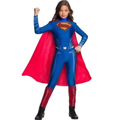Rubie's Girls' Justice League Superman Jumpsuit Halloween Costume
