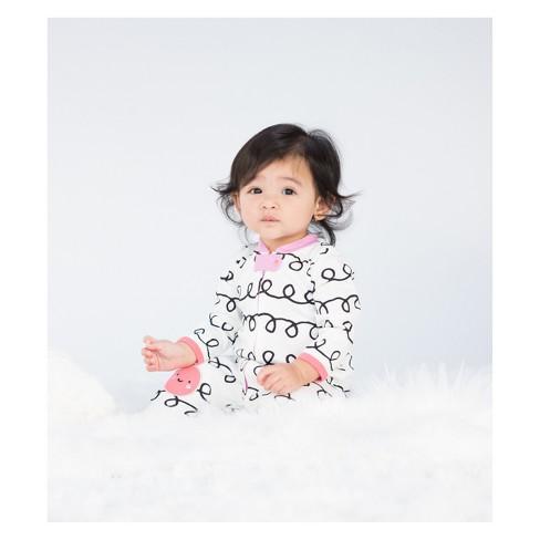 c77a61559ec2 Lamaze Baby Girls' Organic Curly Stripe Print Zip Sleep 'N Play - White  Newborn : Target