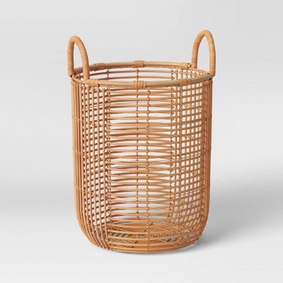 "11"" x 15"" Rattan Basket with Handle Natural - Opalhouse™"