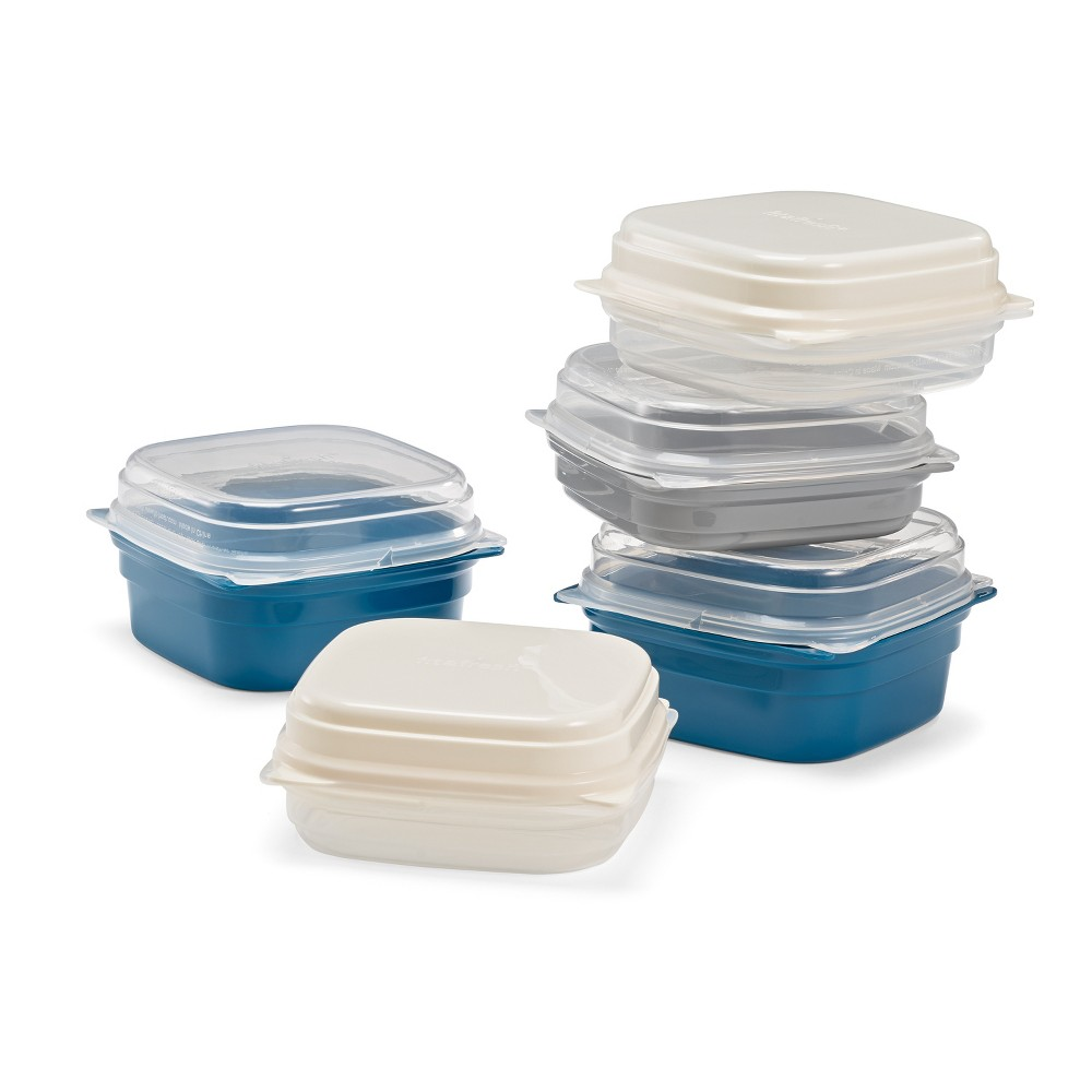 Image of Fit & Fresh Mix & Match Containers, Blue