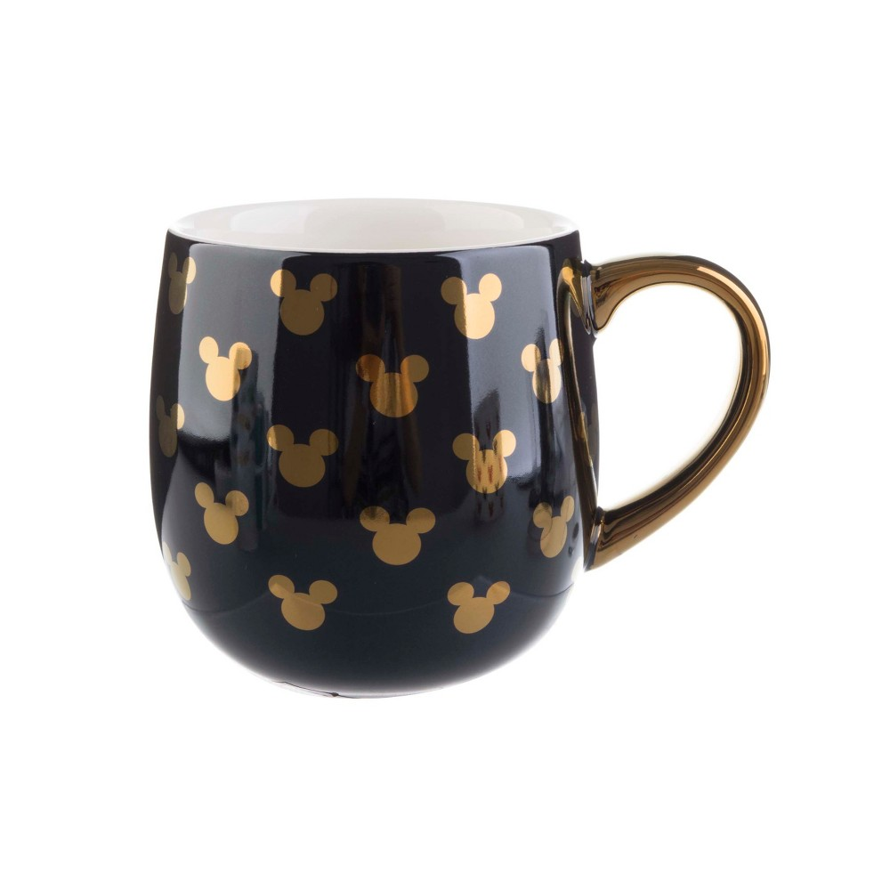 Mickey Mouse & Friends Mickey Mouse Porcelain Mug 16oz - Black/Gold, Gray