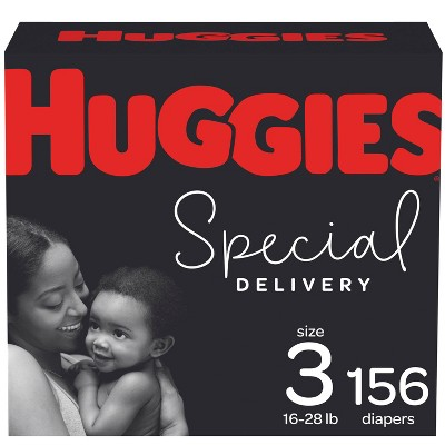 Huggies Special Delivery Hypoallergenic Baby Disposable Diapers Economy Plus Pack - Size 3 - 156ct