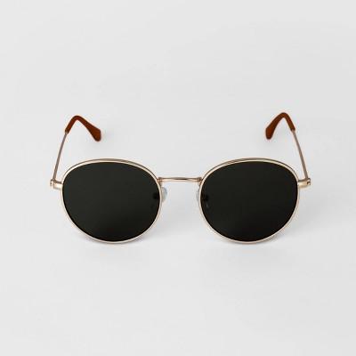 Men's Round Metal Sunglasses - Goodfellow & Co™ Gold