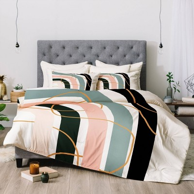 Aleeya Jones Unsettled Rainbow Comforter Set - Deny Designs
