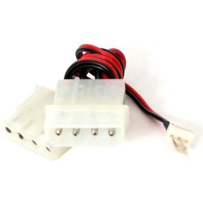 StarTech.com Fan Adapter - TX3 to 2X LP4 Power Y splitter Cable - 4 pin internal power (M) - 4 pin internal power, 3 pin internal power - 12in