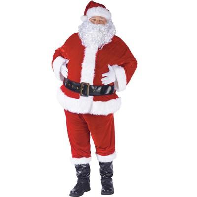 Fun World Complete Velour Santa Suit Adult Costume