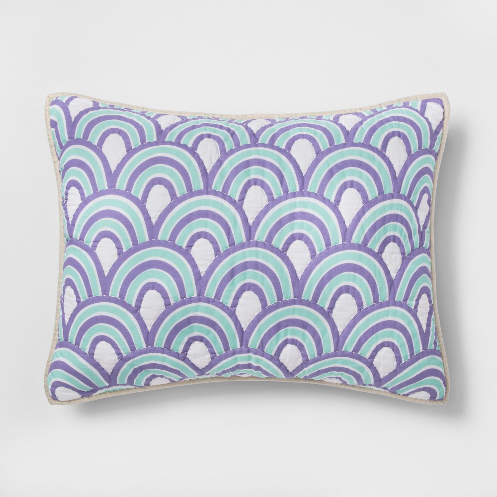 Image of Standard Cool Scallop Pillow Sham Cool Scallop - Pillowfort