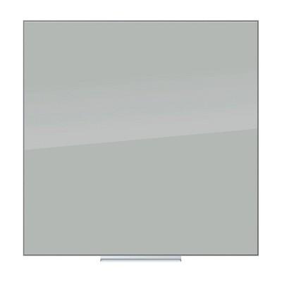 "U Brands 36"" Floating Glass Dry Erase Board Frameless Gray Surface"