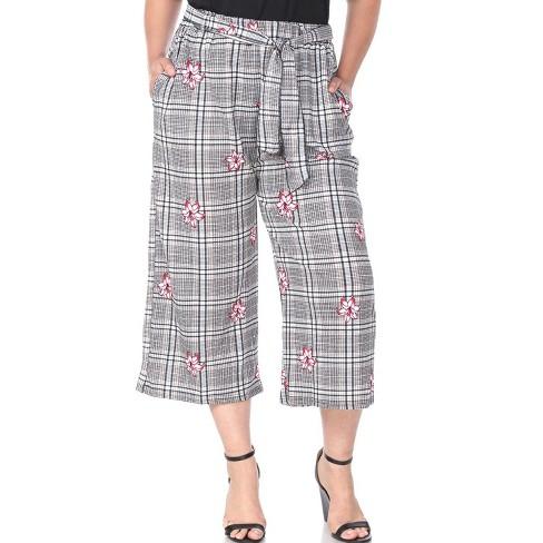 Women's Plus Size Gaucho Pants - White Mark - image 1 of 3
