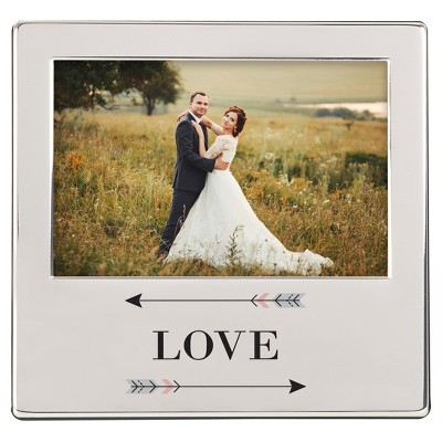 Love  Arrow Silver Picture Frame