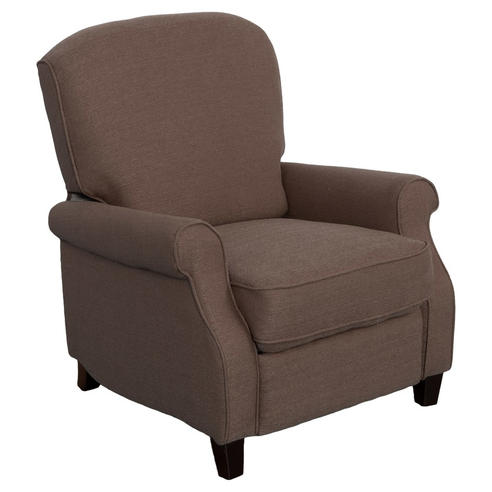 Noah Brown Linen Recliner - Corliving