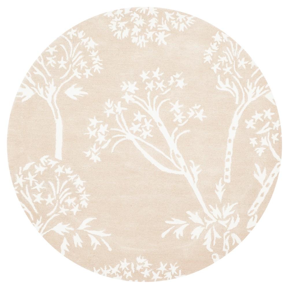 Bella Rug - Sand/Ivory (Brown/Ivory) - (5'X5' Round) - Safavieh