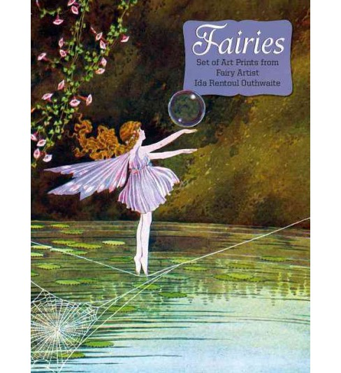 Fairies : Set of 15 Art Prints from Fairy Artist Ida Rentoul Outhwaite (Paperback) - image 1 of 1