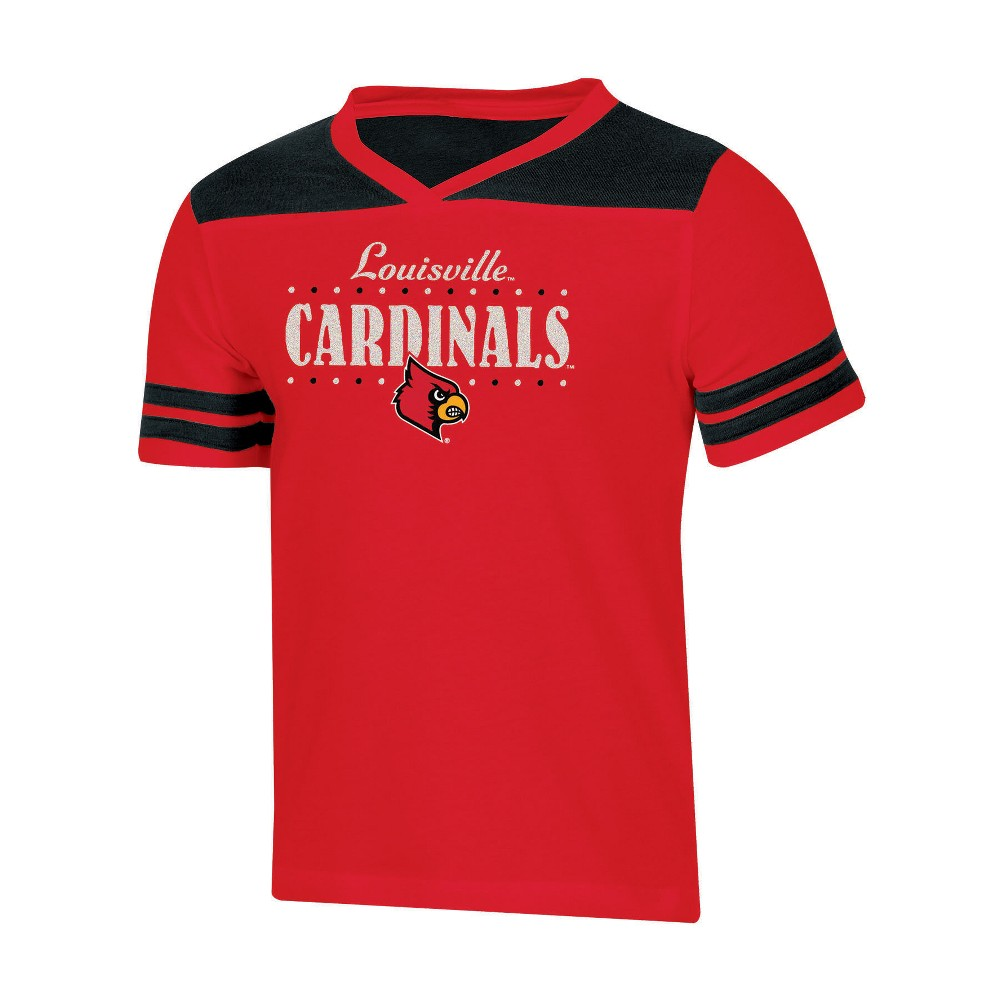 NCAA Girls' Heather Fashion T-Shirt Louisville Cardinals - M, Multicolored
