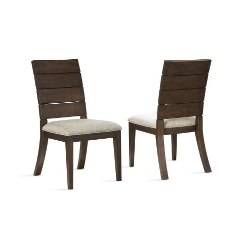 "18"" Elora Ladder Back Side Chair Set of 2 Dark Oak - Steve Silver - image 1 of 4"