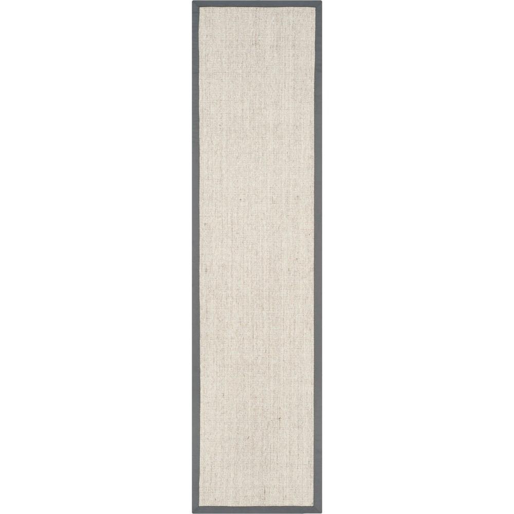 2'X12' Solid Loomed Runner Marble/Gray - Safavieh