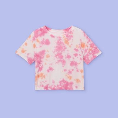 Girls' Tie-Dye Boxy Short Sleeve T-Shirt - More Than Magic™
