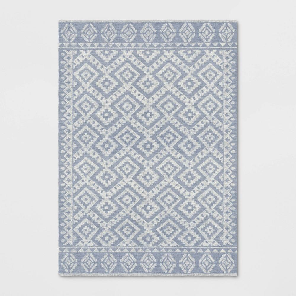 7'X10' Tribal Design Tufted Area Rug Gray - Opalhouse
