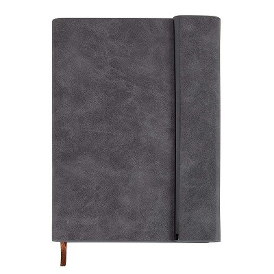 Paper Junkie A5 Gray Faux Leather Journal with Calendar & Magnetic Closure (6.1 x 8.5 in, 192 Sheets)