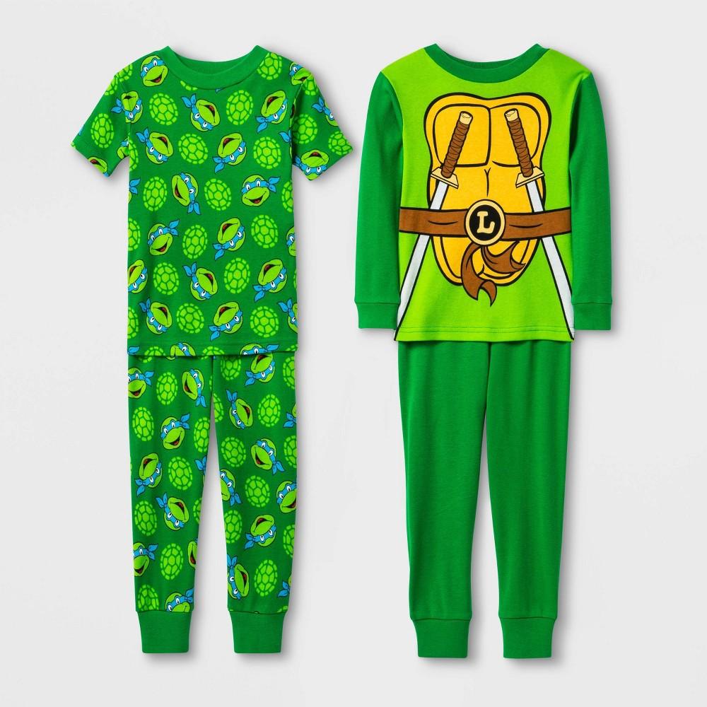 Image of Toddler Boys' 4pc Teenage Mutant Ninja Turtles Pajama Set - Green 2T, Boy's
