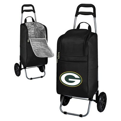 Green Bay Packers Cart Cooler by Picnic Time - Black