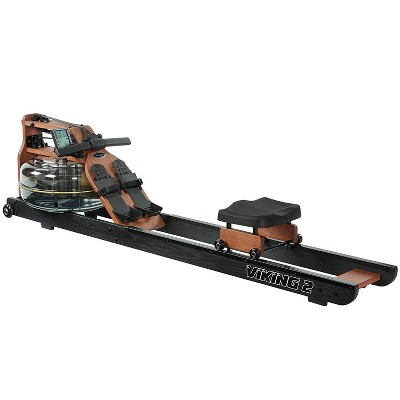 First Degree Fitness Viking II Black Reserve Indoor Rowing Machine, Black/Brown