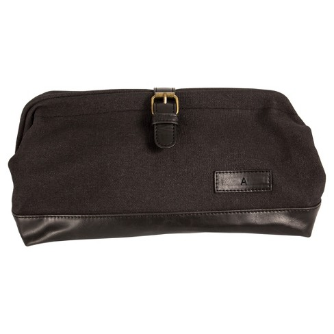 07a5c55516 Monogram Groomsmen Gift Black Travel Dopp Kit Toiletry Bag   Target