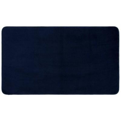 "24""x40"" Velveteen Memory Foam Bath Rug Dark Blue - Room Essentials™"