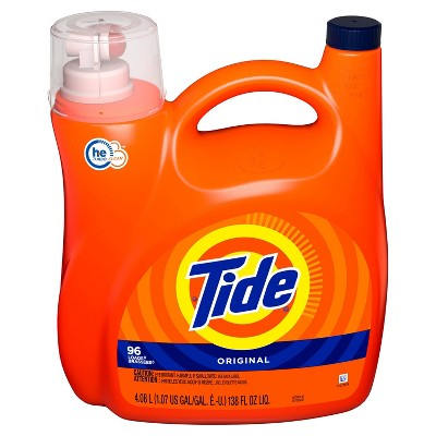 Tide HE Turbo Clean Liquid Laundry Detergent - Original - 138 fl oz