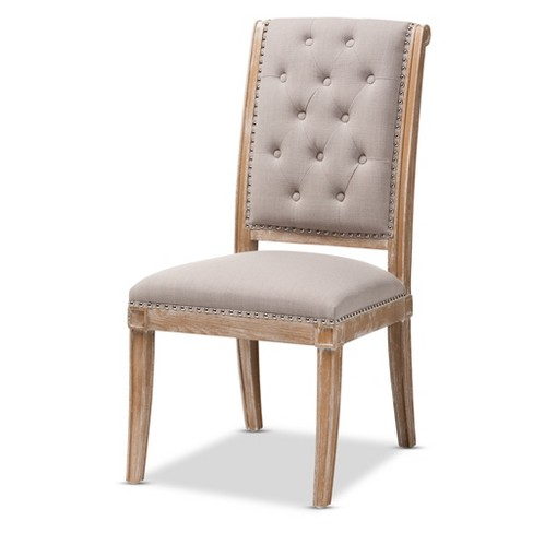 Charmant Wood Dining Chair Light Beige - Baxton Studio - image 1 of 4