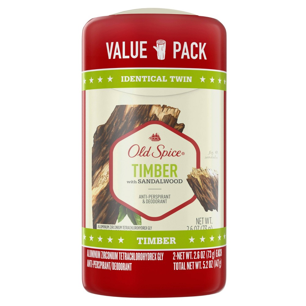Image of Old Spice Fresher Collection Timber Deodorant Twin Pack - 2.6oz