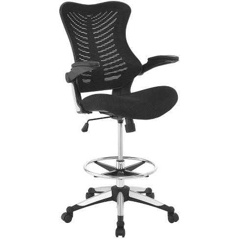 Charge Drafting Chair Black - Modway - image 1 of 4