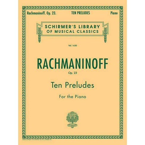 10 Preludes, Op. 23 - (Paperback) - image 1 of 1