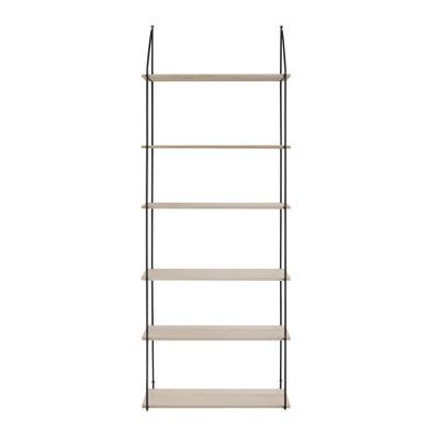 6 Tier Metal/Wood Wall Shelves Brown - 3R Studios