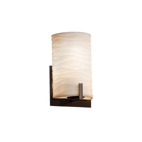 "Justice Design Group PNA-5531-WAVE-LED1-700 Porcelina 5.5"" Century 1 Light LED ADA Compliant Wall Sconce - image 1 of 1"