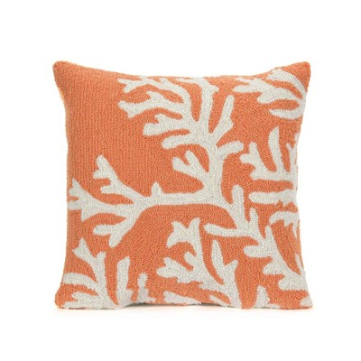 Visions Zebra Indoor/Outdoor Square Throw Pillow Coral - Liora Manne