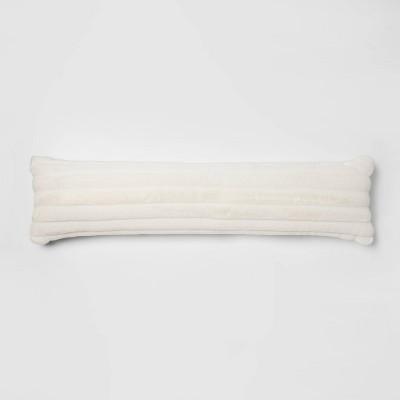 Bed Lumbar Channeled Faux Fur Pillow Cream - Project 62™ + Nate Berkus™