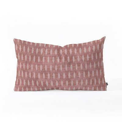 Holli Zollinger Geometric Lumbar Throw Pillow Red - Deny Designs