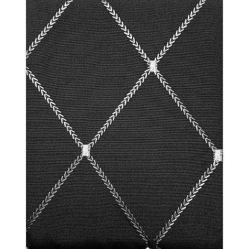 Wellington Diamond Extra Long Shower Curtain Black