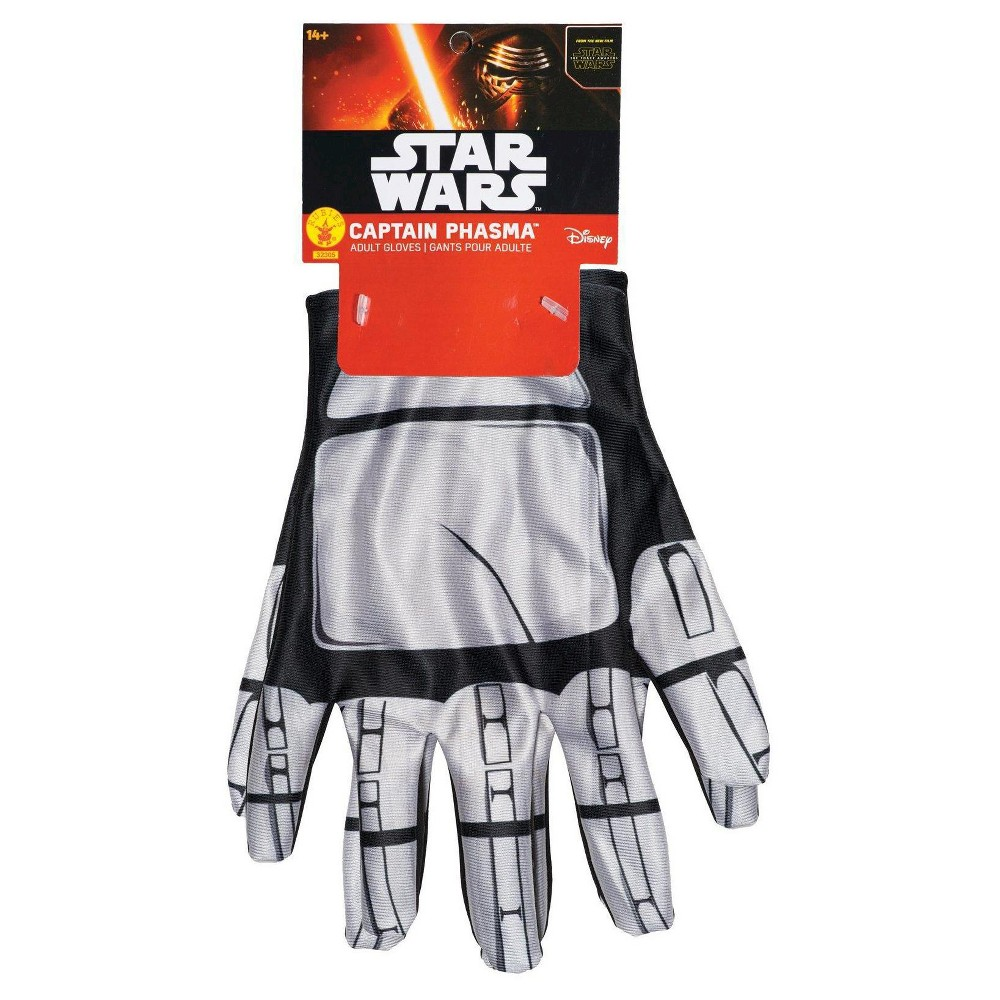 Star Wars: Captain Phasma Adult Gloves One Size Fits Most, Women's, Gray