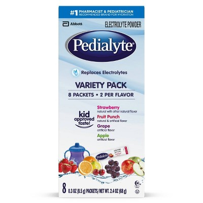 Pedialyte Electrolyte Powder Variety Pack - 2.4oz Total