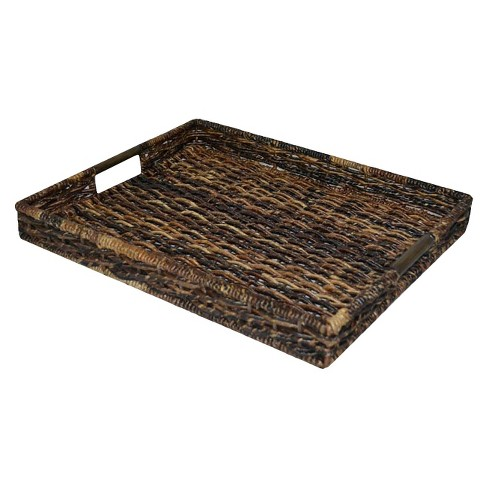 Banana Leaf Rectangle Decorative Tray - Dark Global Brown - Threshold™ - image 1 of 1