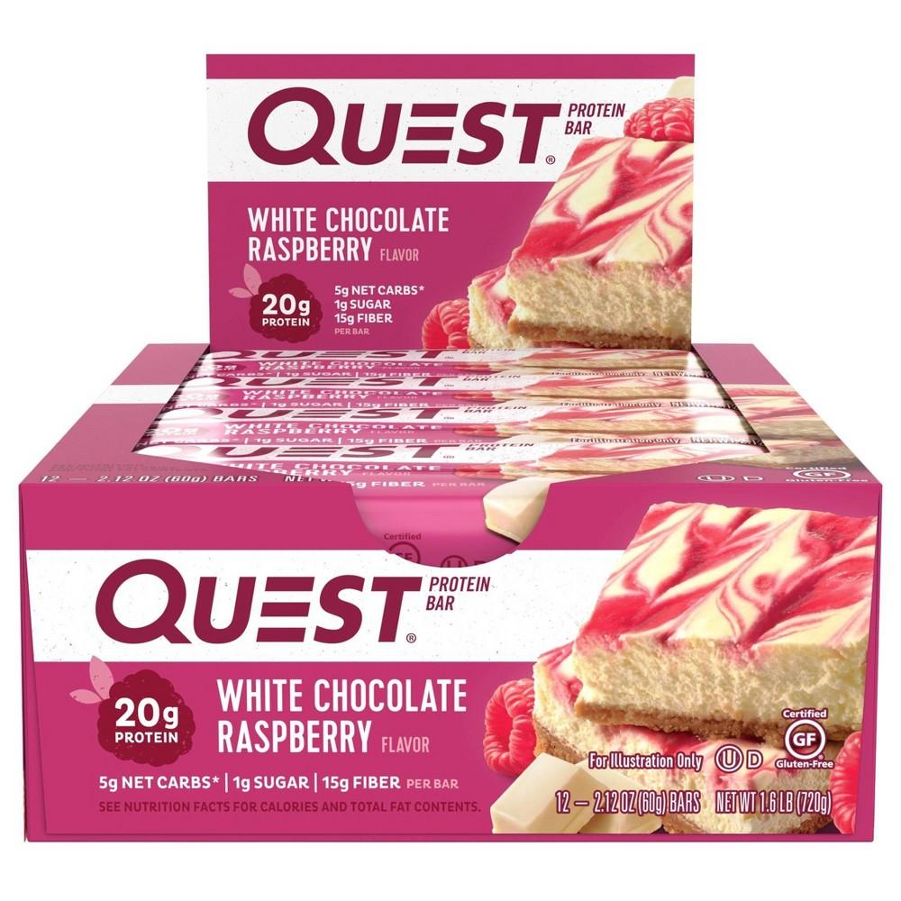 Quest Protein Bar White Chocolate Raspberry 12ct